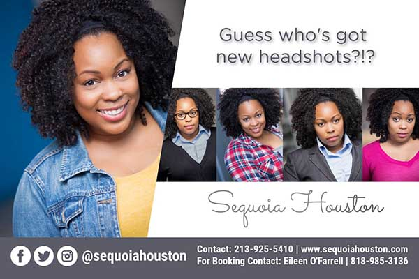 Montage of New Headshots photos of Sequoia